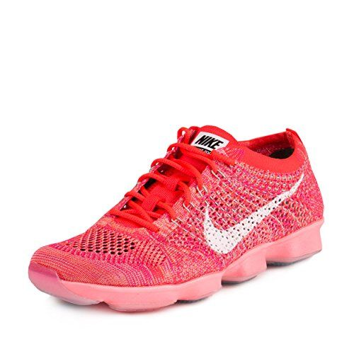 nike womens flyknit zoom fit agility running trainers 698616 sneakers shoes (us 8.5 bright crimson white light...