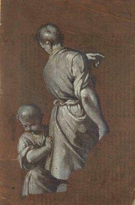 Giuseppe Gambarini 1680 1725 Jeune Homme Vu De Dos Accompagne