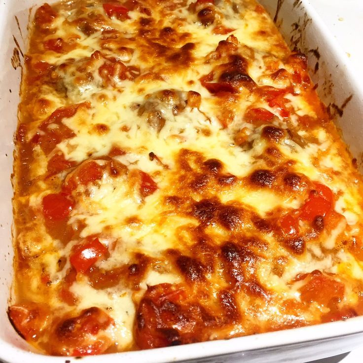 Syn Free Cheesy Meatball Bake