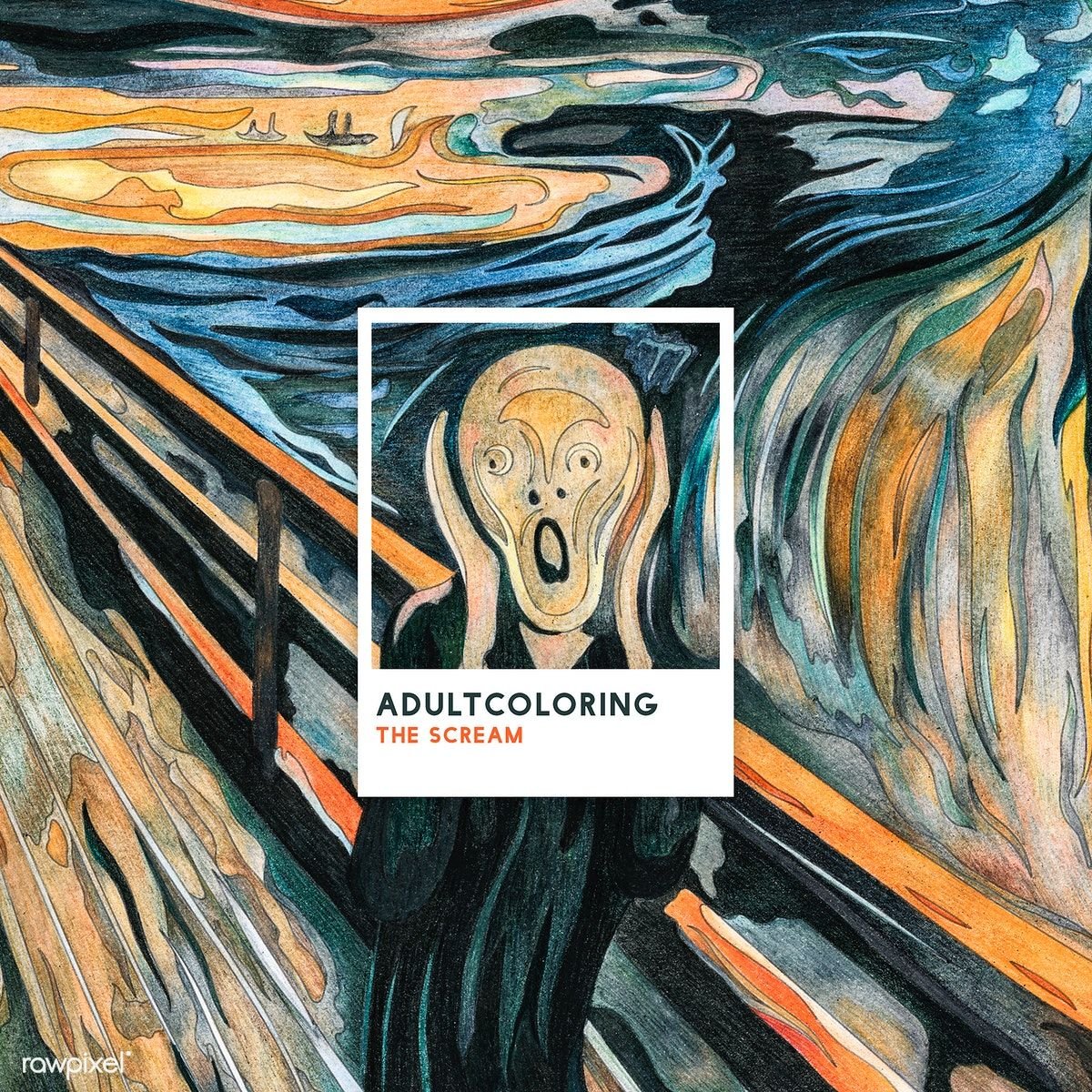 Pin on Famous art coloring