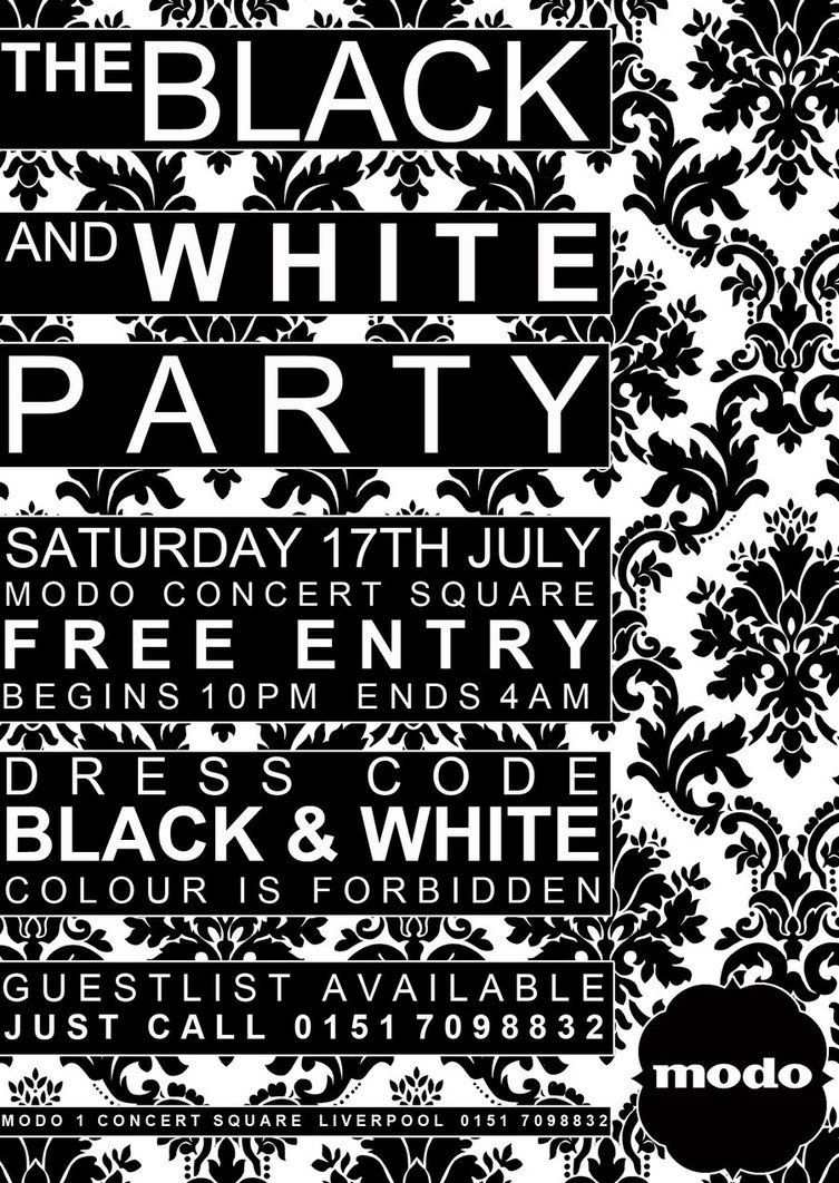 Pin By Stacy On Color Black White 1 All Black Party