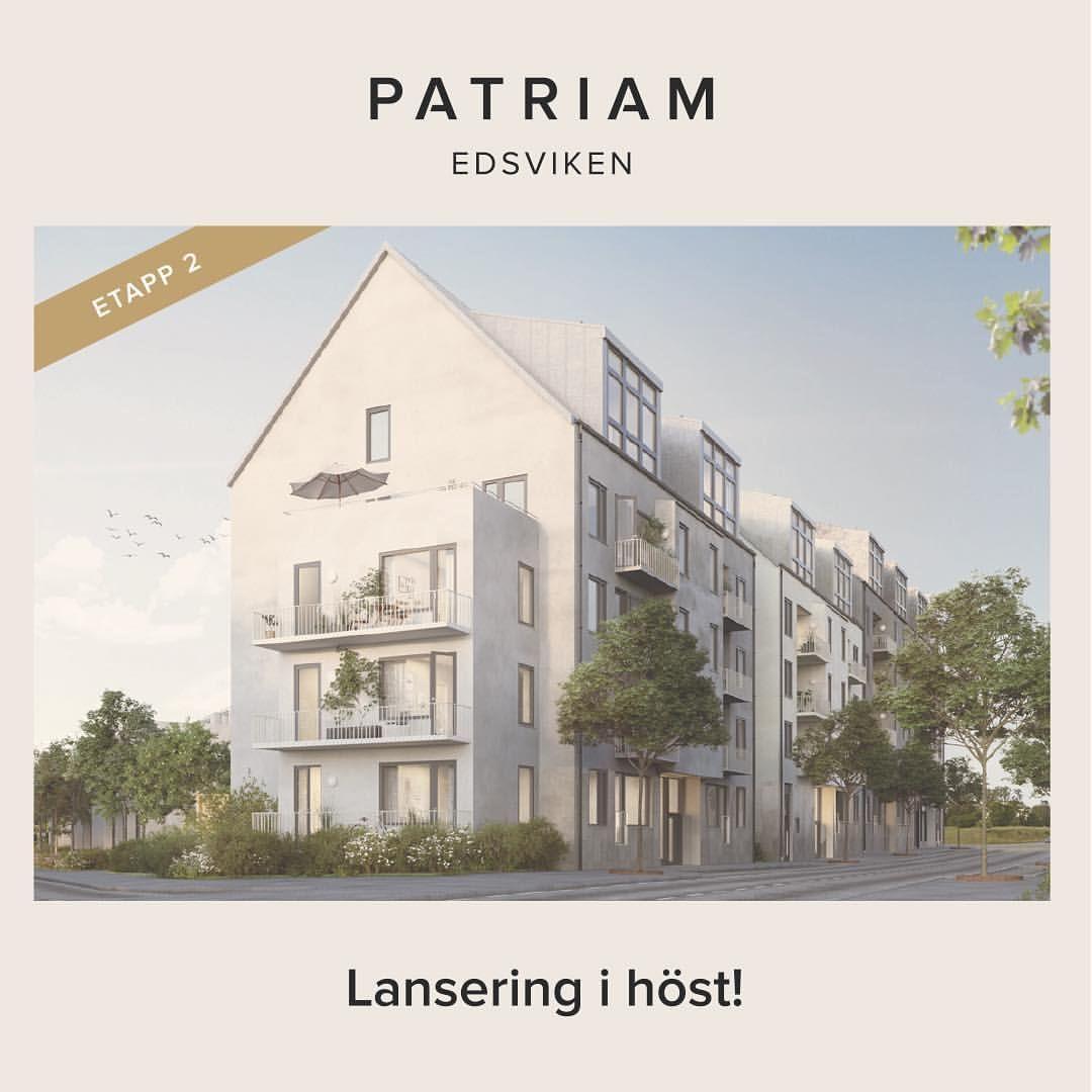 """35 Likes, 1 Comments - Patriam (@patriam.se) on Instagram: """"I höst kommer vi ha säljstart för Patriam Edsviken etapp 2. Gå gärna in på Patriam.se och läs mer…"""""""