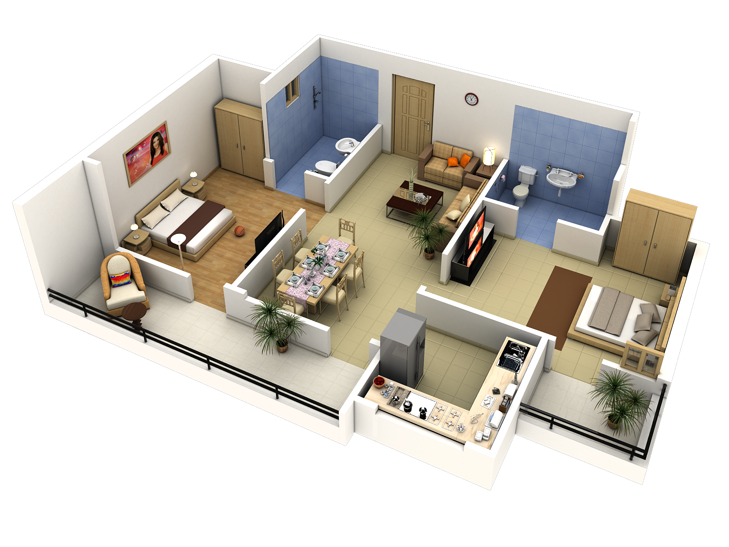Easy 3d Floor Plan 3d Floor Plans Are Also A Great Way For Architects Realtors And Home Bedroom House Plans Craftsman Bungalow House Plans Floor Plan Design