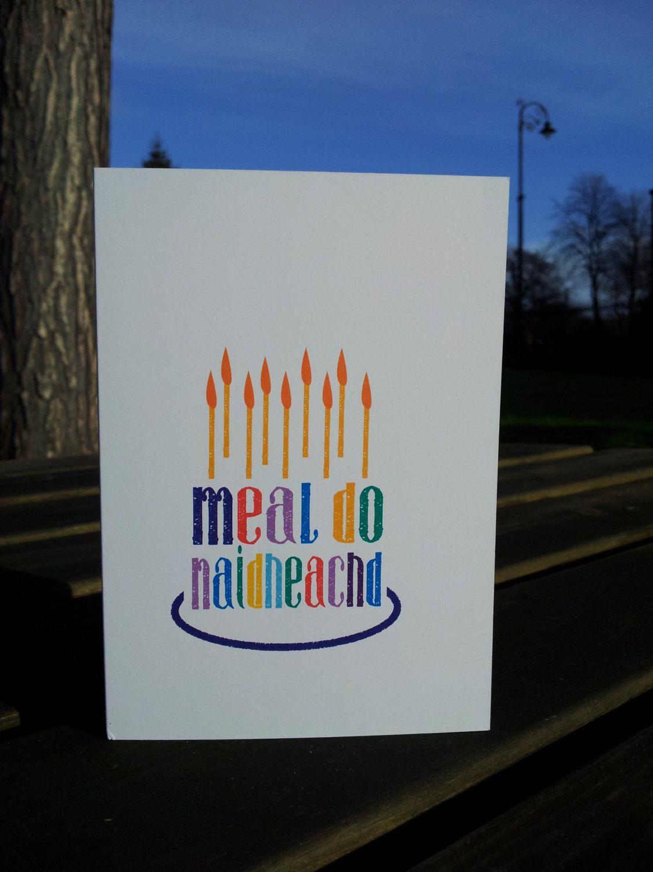 Cairt Co Latha Breith Scottish Gaelic Birthday Card Meal Do