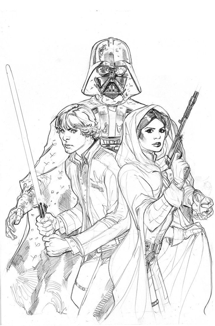 Star Wars: Vader Down #1 Variant Cover Pencil by TerryDodson on DeviantArt