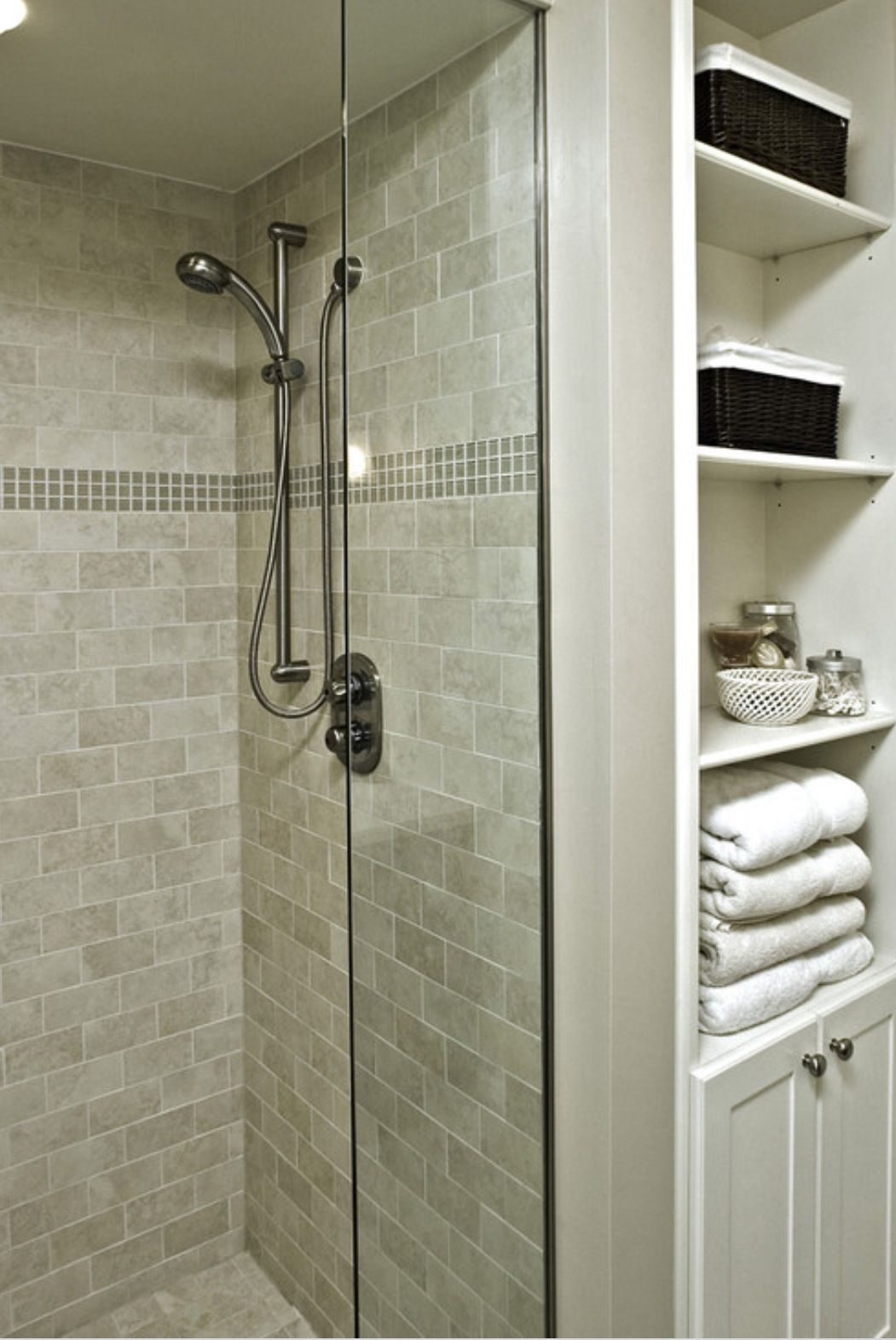 a must! need to put a closet or built in shelves in the bathroom ...