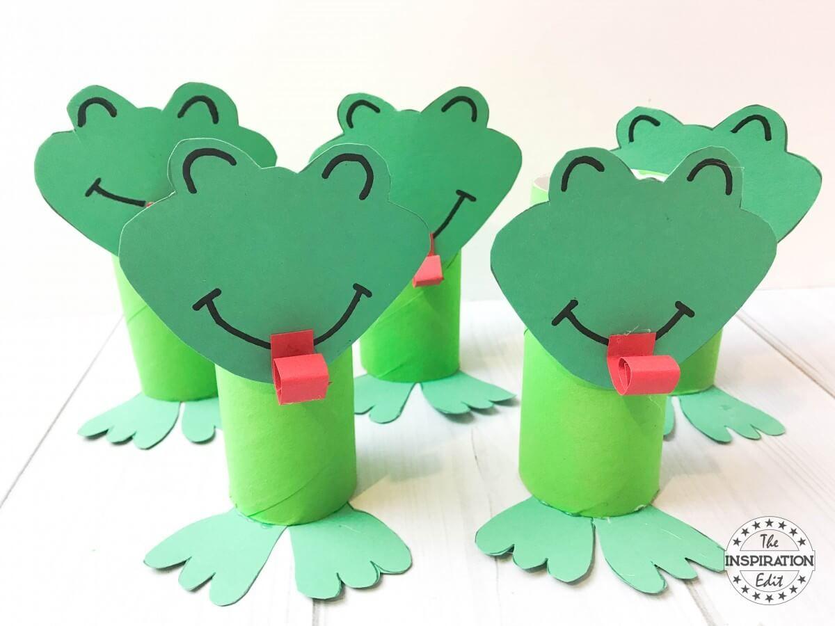 Super Cute Toilet Tube Frog Craft For Kids | Toilet tube, Frog ...