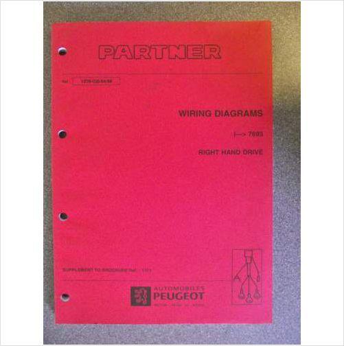 Peugeot Partner Wiring Diagrams Workshop Manual 1998 1279