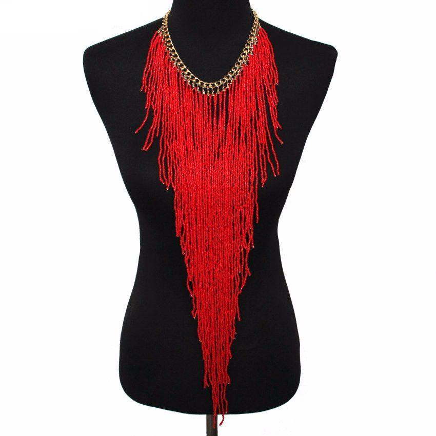 Let It Flow Long Bead Necklace