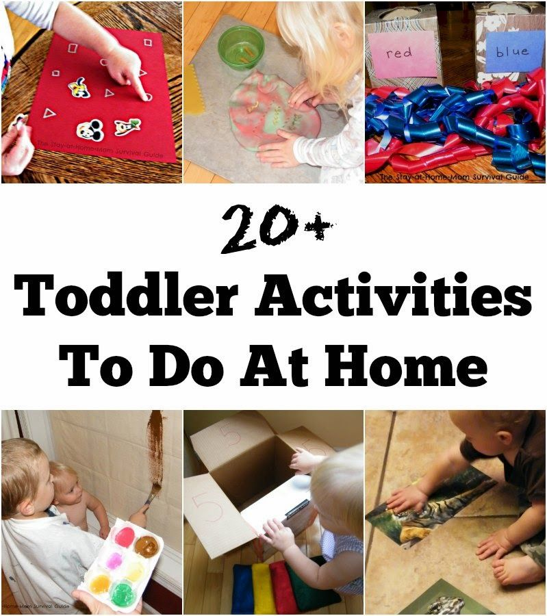 20+ Toddler Activities to do at Home The StayatHome