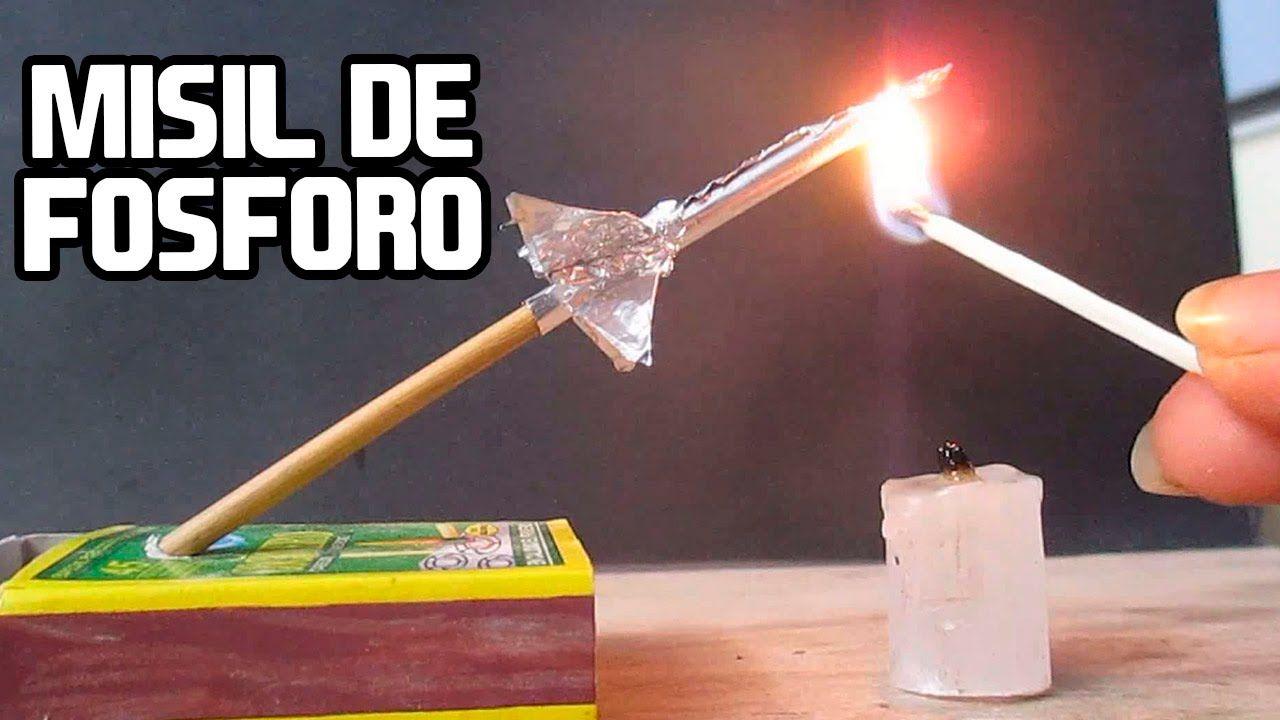 Como Hacer Un Misil Cohete Casero con Fósforo│ARMAS CASERAS