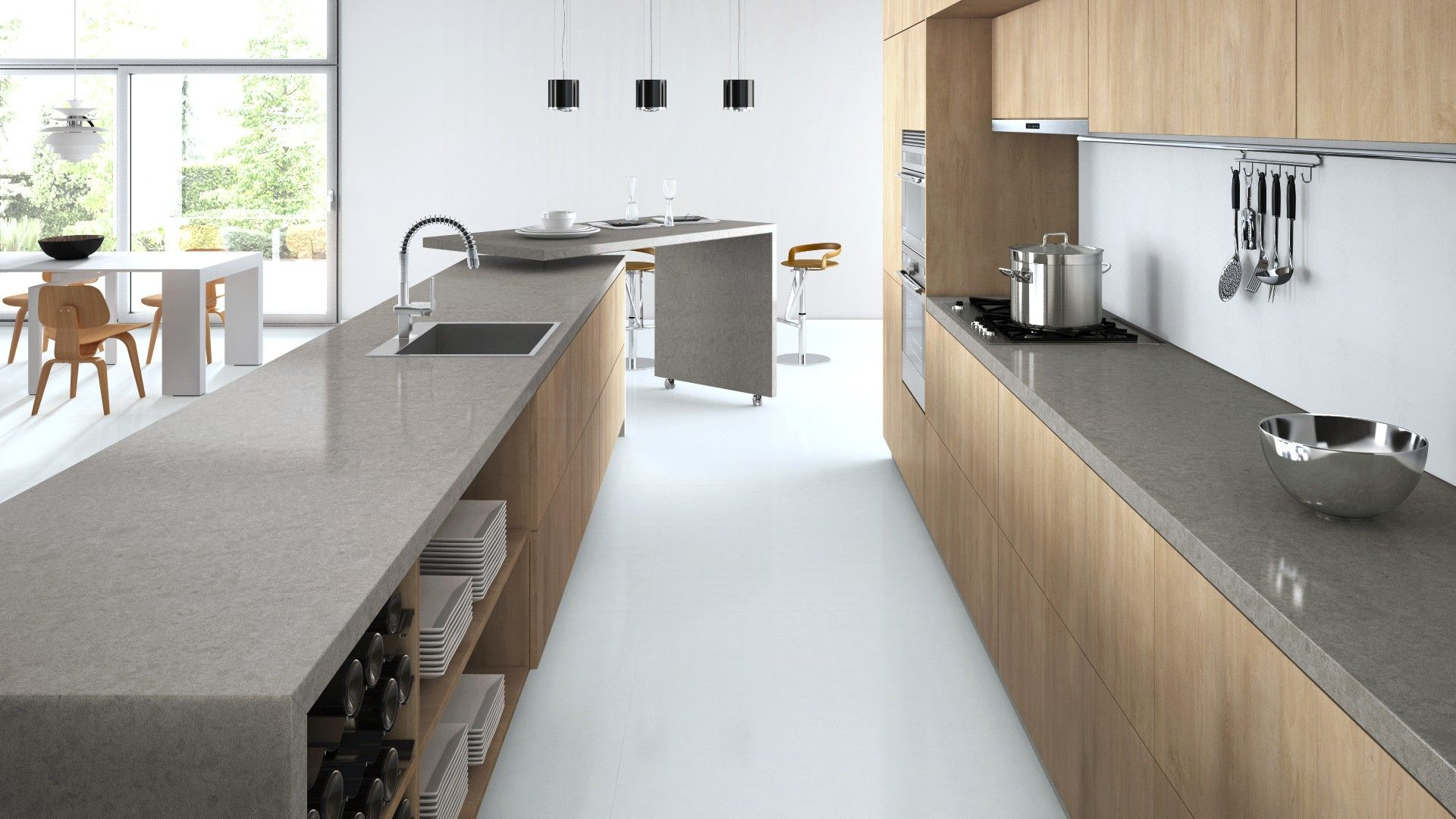 kitchen design visualiser. Interiors Addict s Guide to Designing a Modern Kitchen Caesarstone online  visualiser showing kitchen with Sleek Concrete and Calacatta Nuvo benchtops Visualizer Cozinhas Pinterest Kitchens House