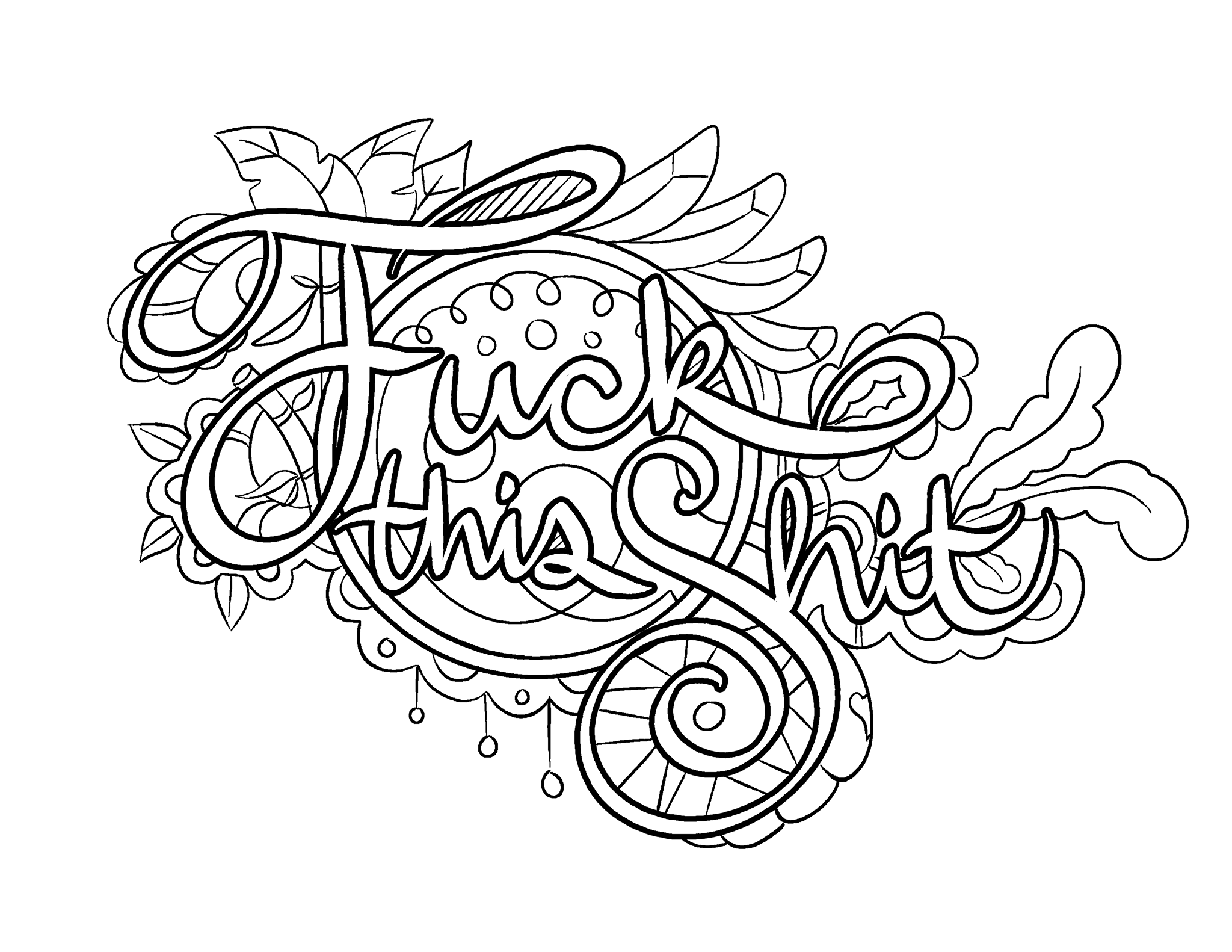 Swear word coloring book volume 1 - Fuck This Shit Coloring Page By Colorful Language