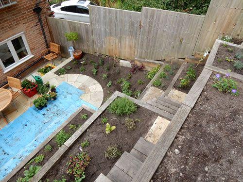 Steep Slope Garden Designs Garden Designer Staffordshire Sloped Garden English Garden Design Garden Design