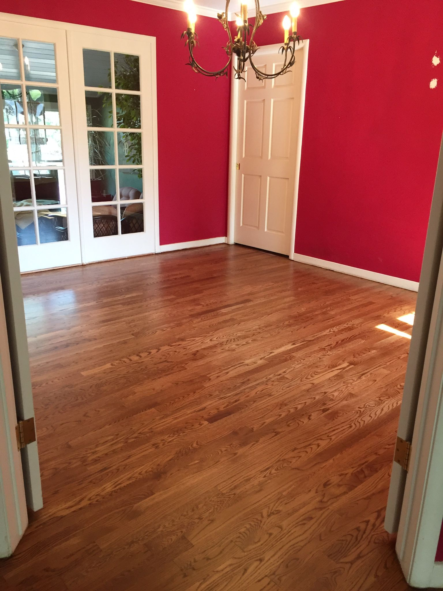 This Is The Dining Room With New White Oak Floors Stained
