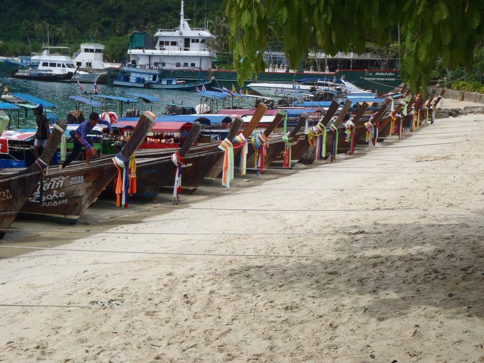 Long boats in Koh Phi Phi, Thailand