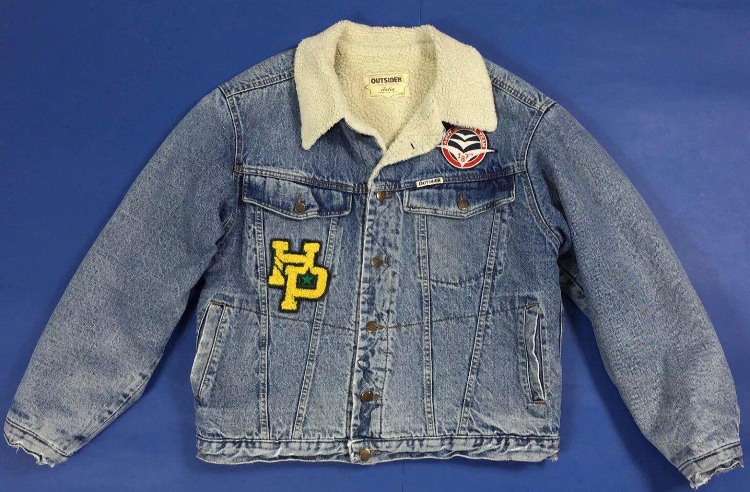 buy popular 37b73 861aa Outsider giubbotto sherpa giacca jeans XL giubbino imbottito ...
