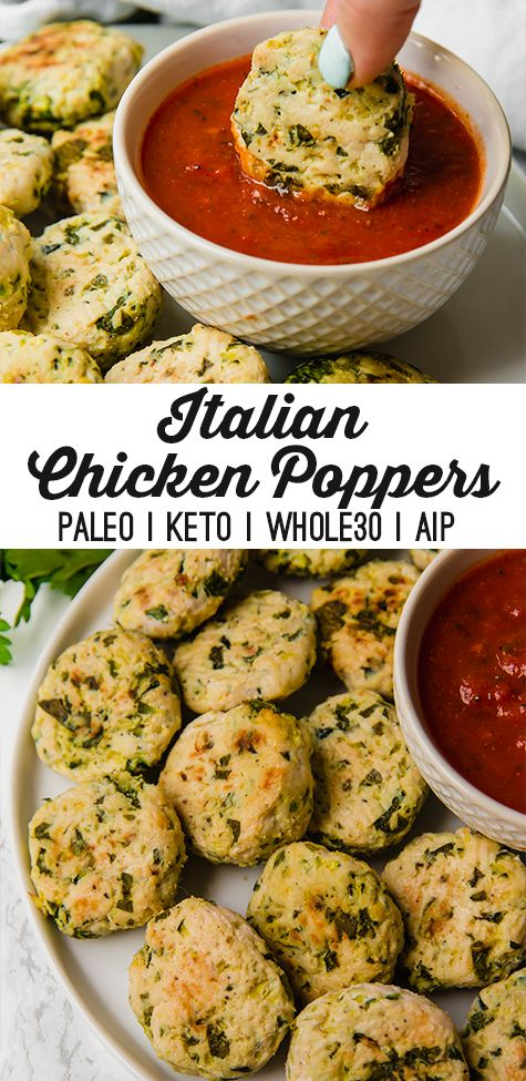 Photo of Italian Chicken Poppers (Paleo, Keto, Whole30, AIP) – Unbound Wellness