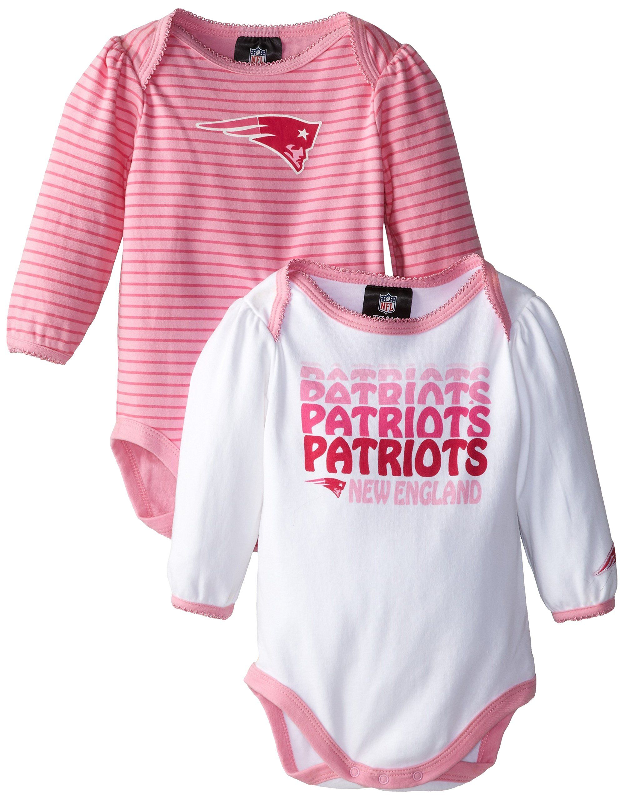 8160dbd70 Amazon.com  NFL New England Patriots Girl s Long Sleeve Bodysuit Set (2-Pack)