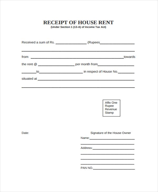 Room Rent Bill Format  PetitComingoutpolyCo