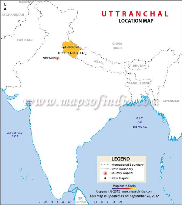 Location Map of Uttarakhand | My India | India map, Location ...