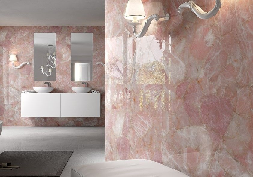 A Stunning Rose Quartz Bathroom Always Inspires Us To Renovate Our