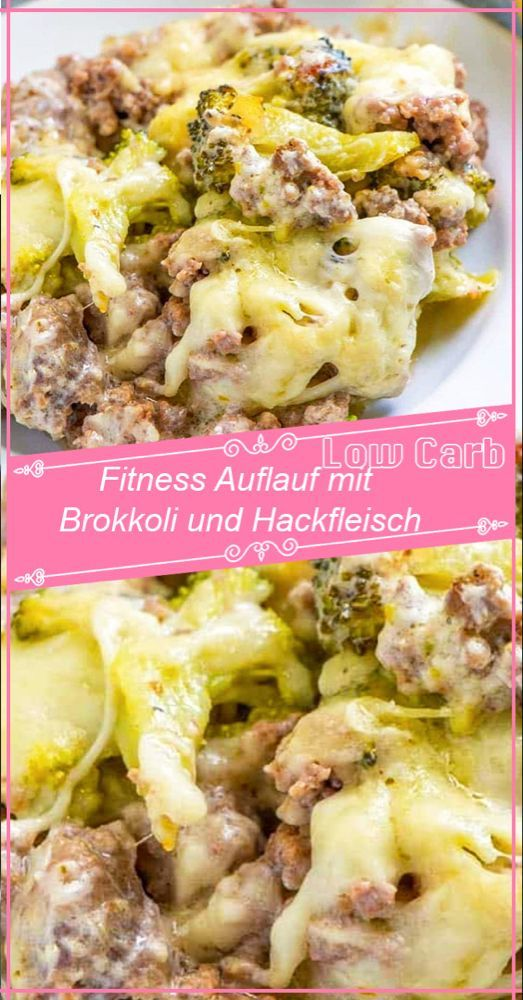 Fitness casserole with broccoli and minced meat -  Fitness casserole with broccoli and minced meat –...