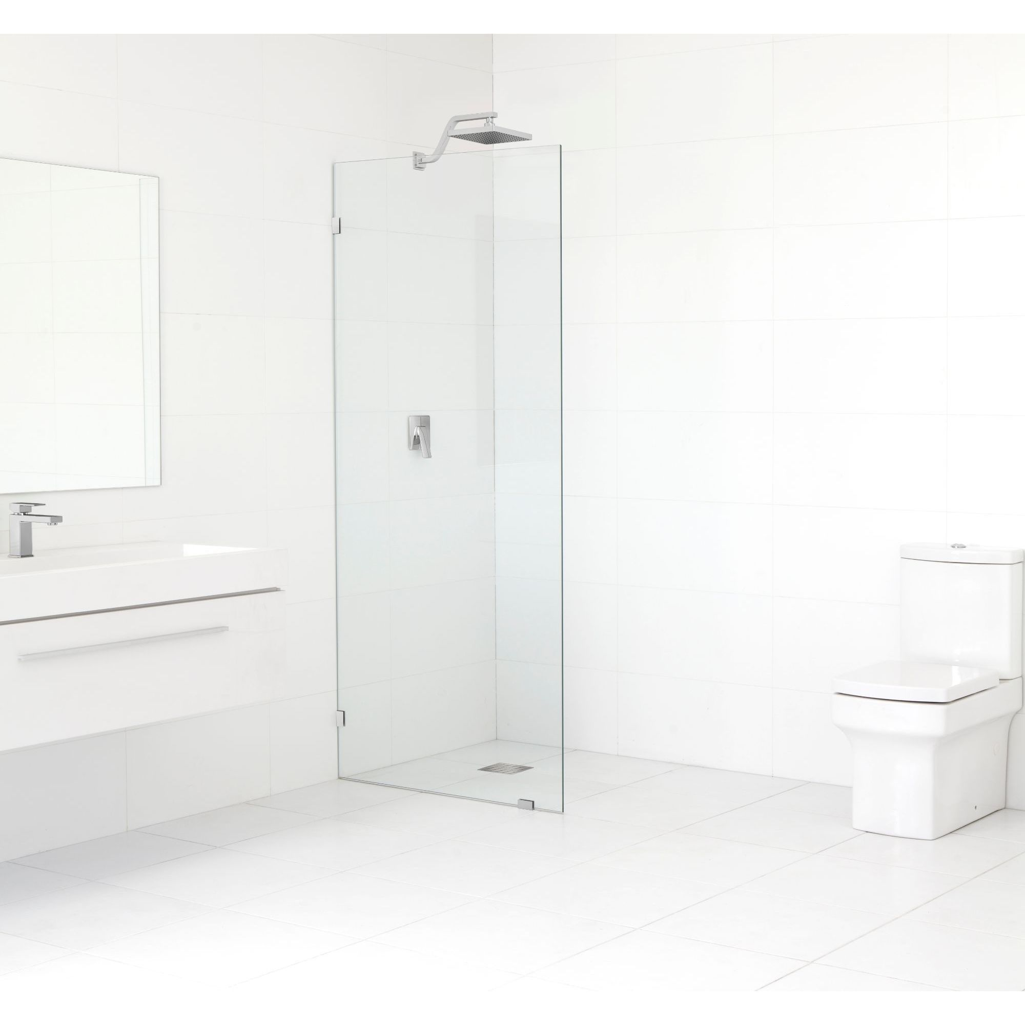 Glass Warehouse 78 Inch X 29 5 Inch Frameless Fixed Shower Panel