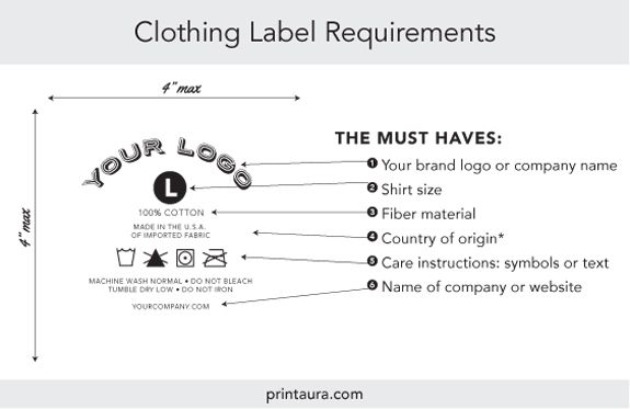 Clothing Label Requirements  M A K E    Clothing