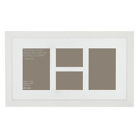 Buy John Lewis Multi-aperture Gallery Frame, White, 4 Photo, 3 x 4 ...