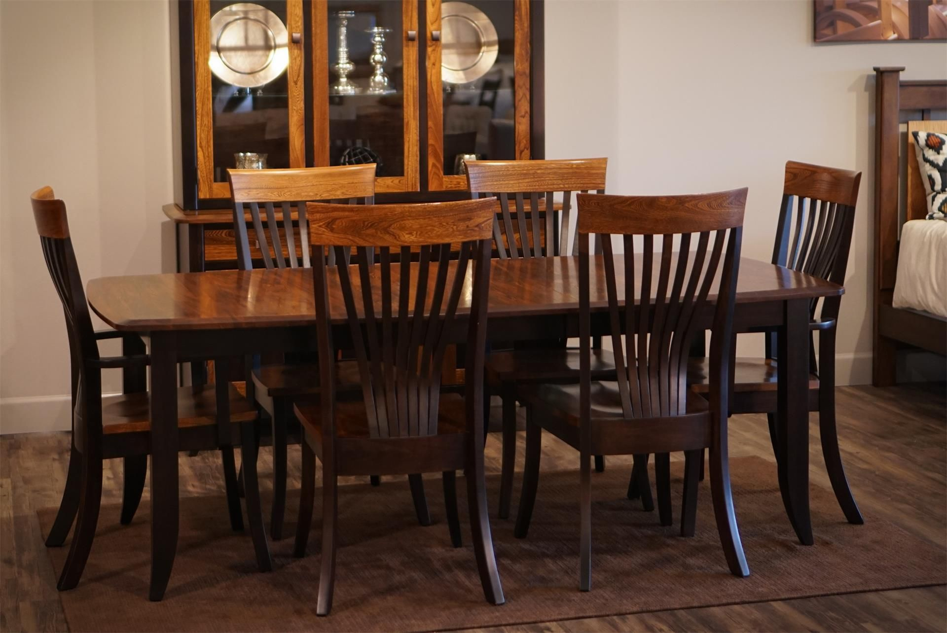 Room · Amish Christy Extension Dining Room Table ...