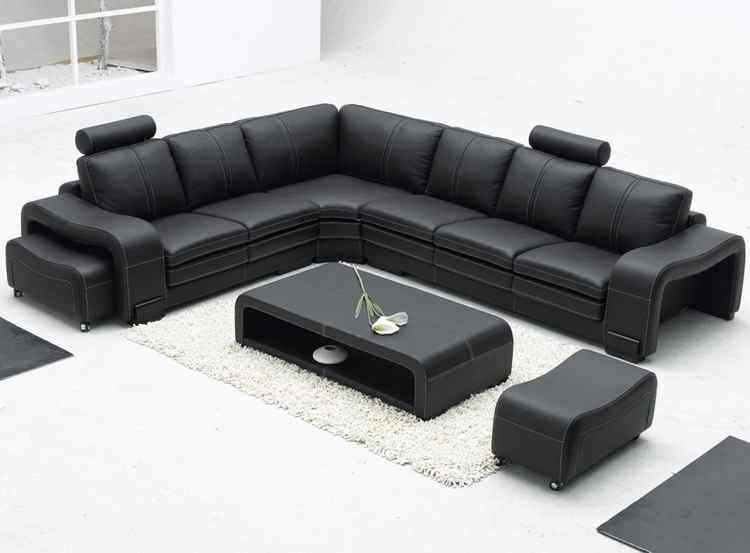 Sof 225 S Modernos Leather Corner Sofa Leather Sectional