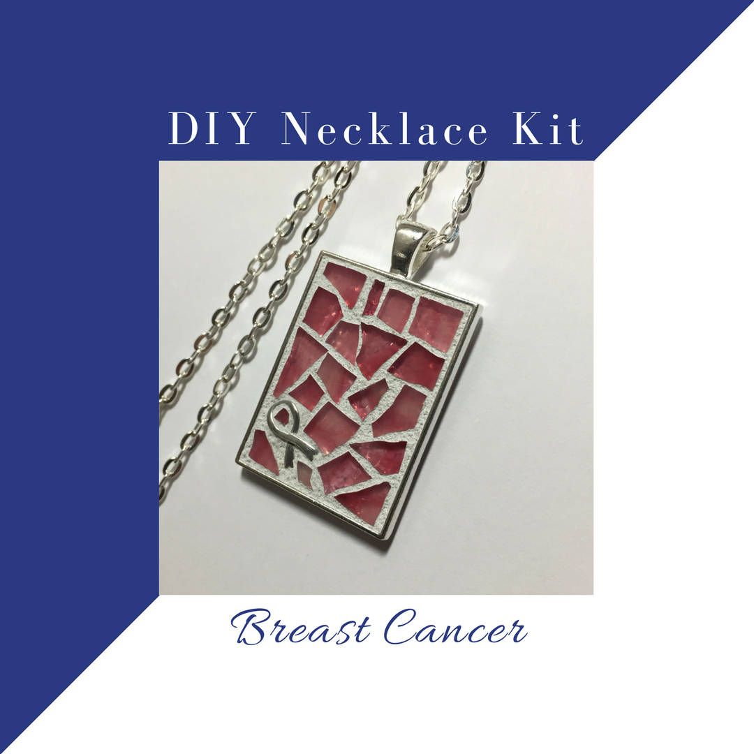 Now selling do it yourself necklace making kit breast cancer now selling do it yourself necklace making kit breast cancer support pink ribbon craft solutioingenieria Images