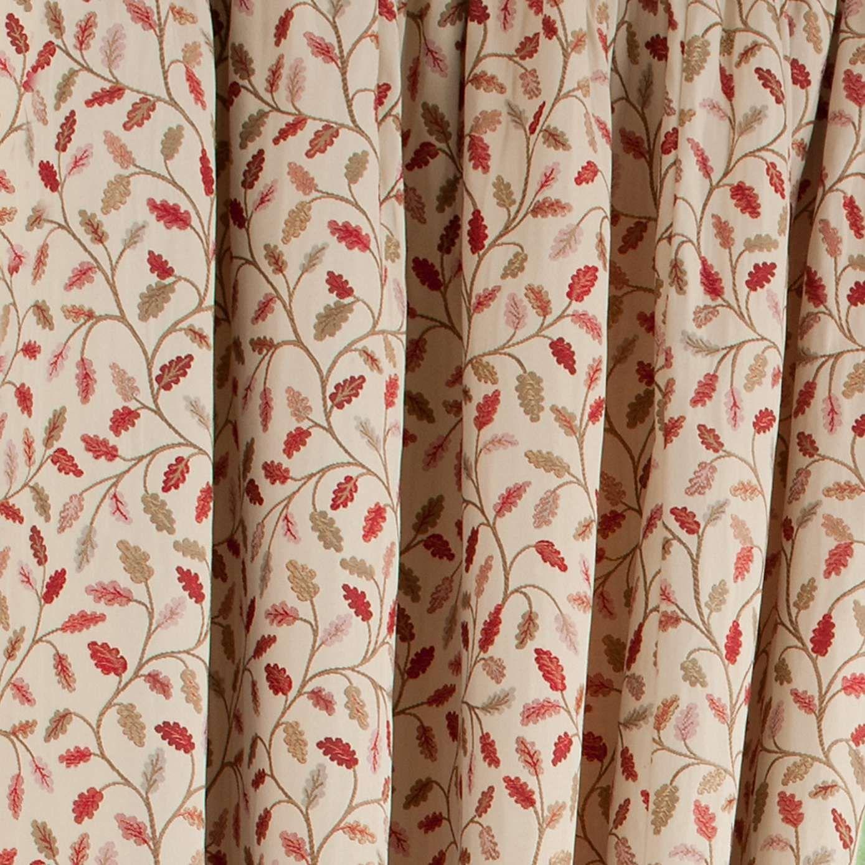Heritage Glava Terracotta Lined Pencil Pleat Curtains