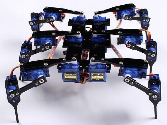 A legs dof robot black spider pcs sg