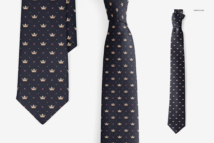 Neck Tie Mockup Set Customizable Labels Neck Tie Online Design