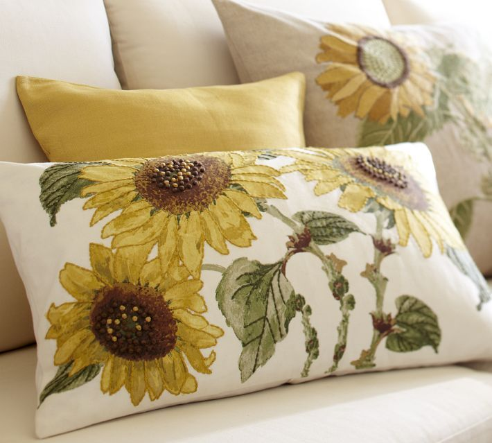 Pottery Barn Sunflower Pillow Pottery Barn Sunflower Pillow Cover 16x26 New With Tags 2 Available Sunflower Pillow Pillows Throw Pillows