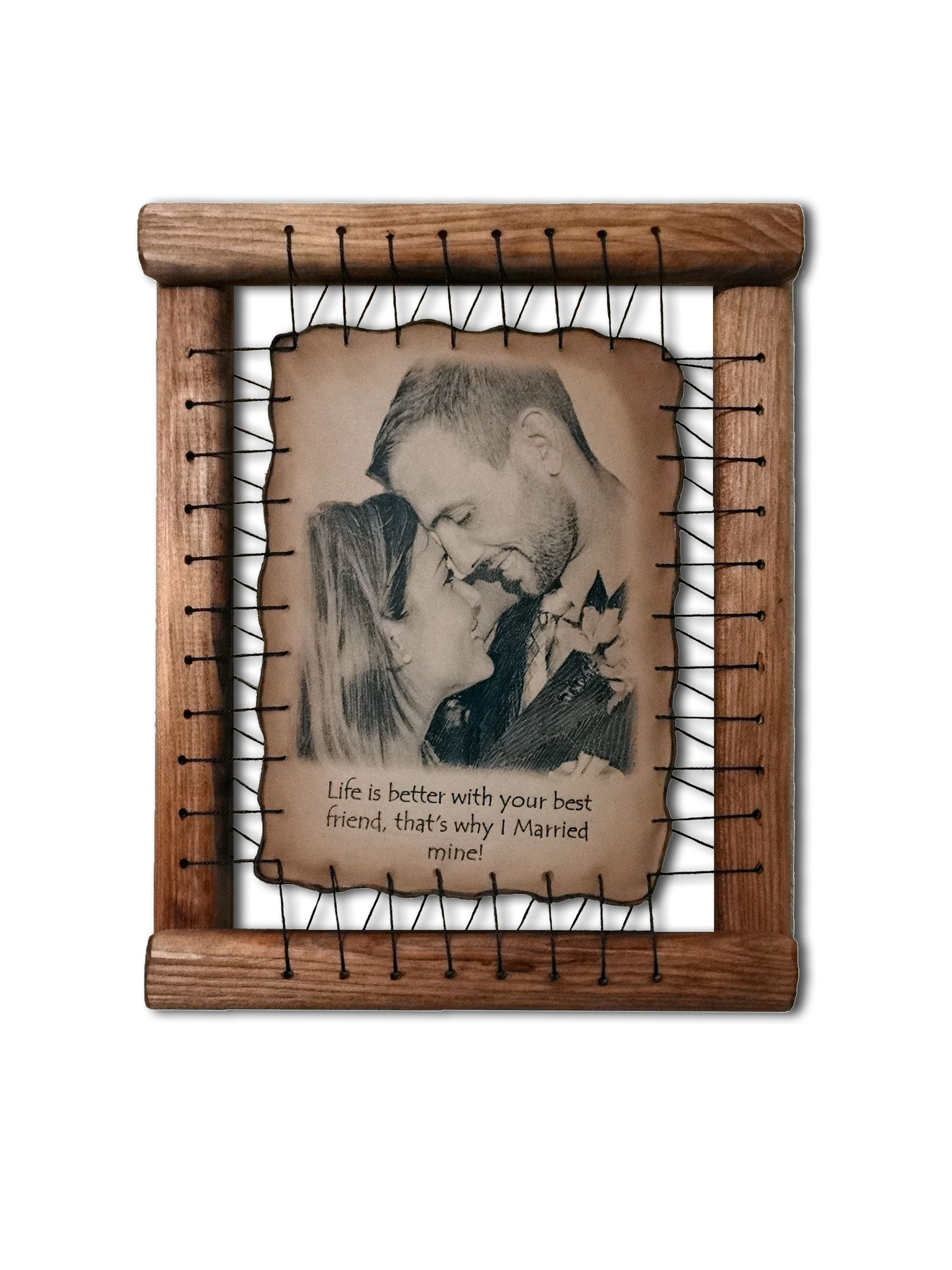 Leather anniversary gifts for husband rare hand drawn pyrography leather anniversary gifts for husband jeuxipadfo Image collections