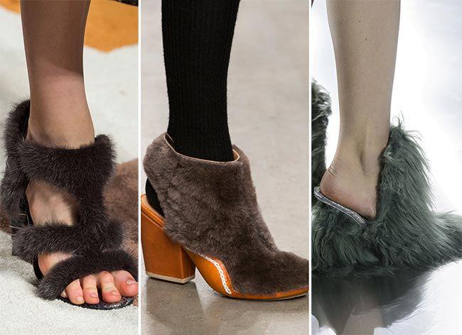 Fall/ Winter 2015-2016 Shoe Trends | Fall winter 2015, Fur