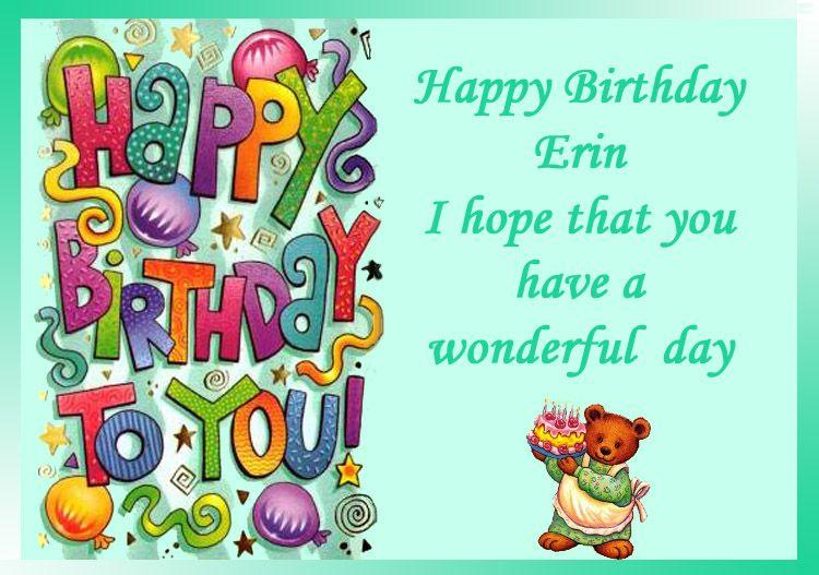 Happy Birthday Erin Birthday Images Happy Birthday