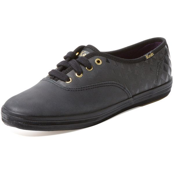 8796f9841 Keds Keds Women s Champion Embossed Leather Low Top Sneaker - Black -...  ( 49) ❤ liked on Polyvore featuring shoes