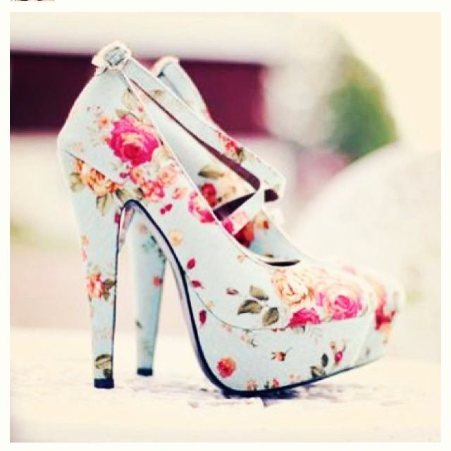 Floral shoes for the love of shoes pinterest floral shoes shoes flowers and heels girly girl woman women floral platform pump pumps heel cute platforms blue pretty dressy pink rose roses high mightylinksfo