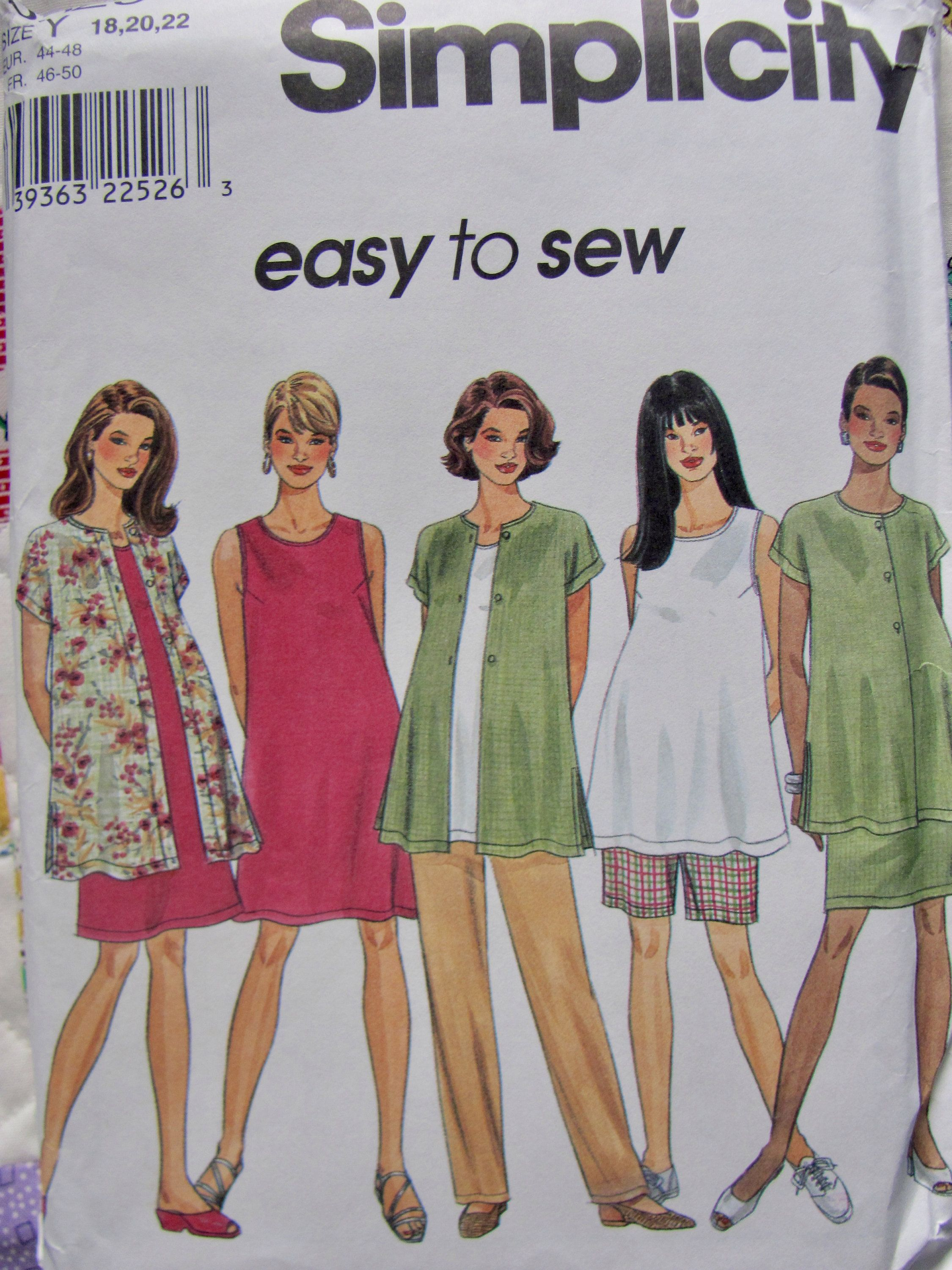 Simplicity 8589 Maternity Clothing