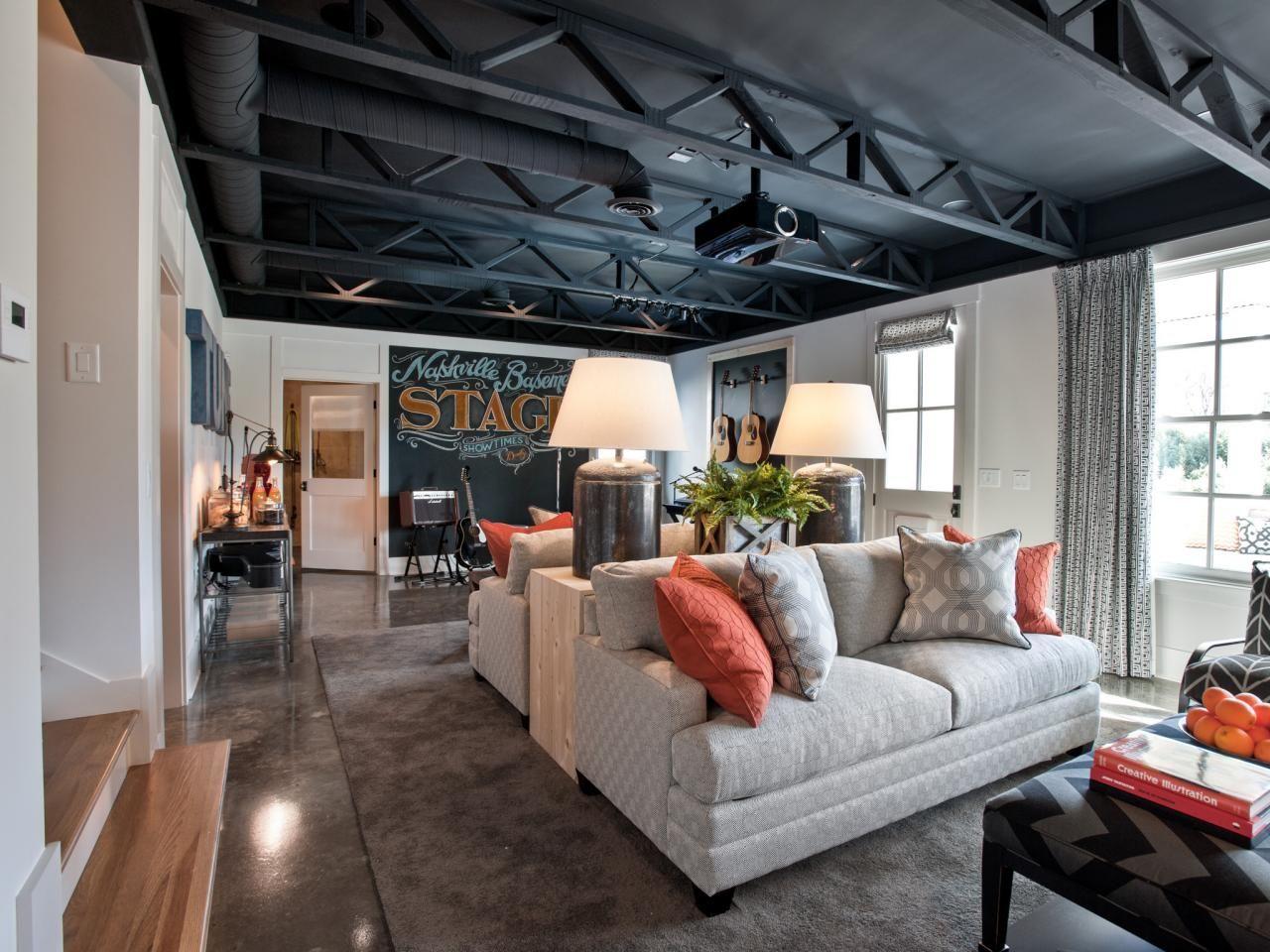 Best 25 Basement Black Ceiling Ideas On Pinterest