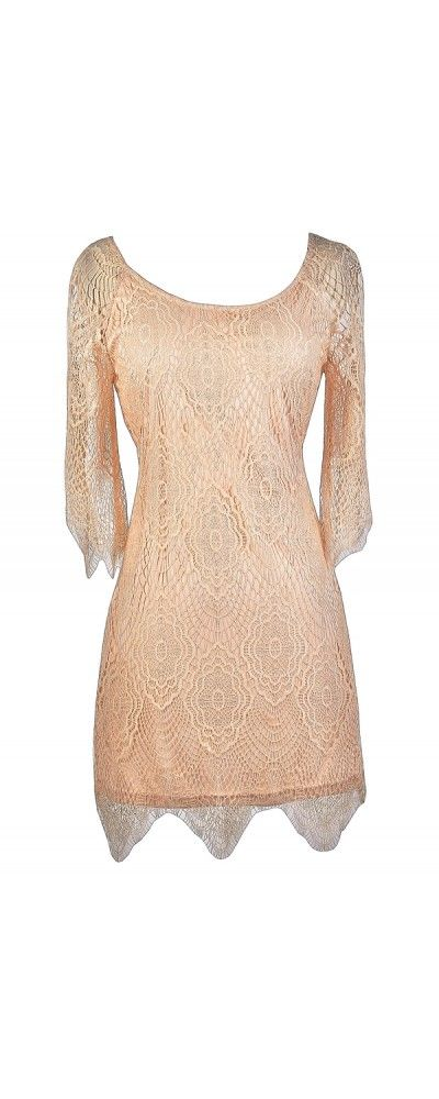 52b5ea320a Lily Boutique Spinning Webs Blush Pink Lace Dress