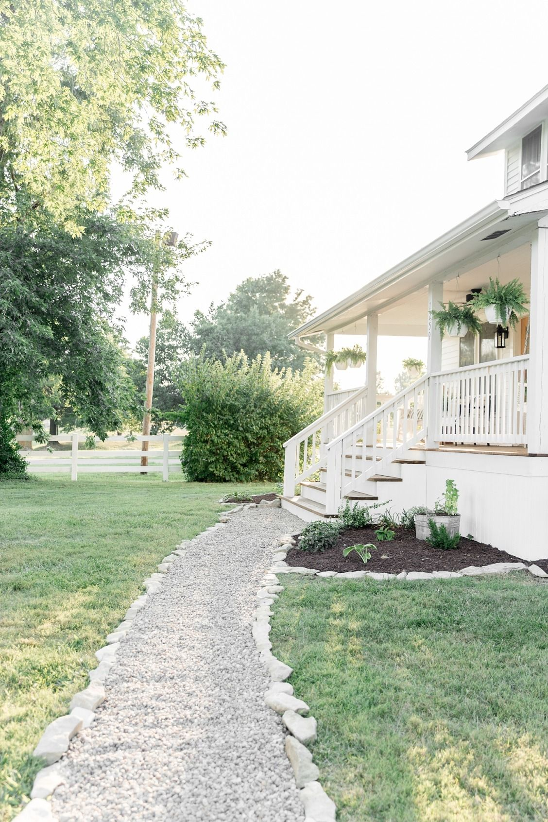 How To Update A Cracked Sidewalk With A Diy Gravel Path
