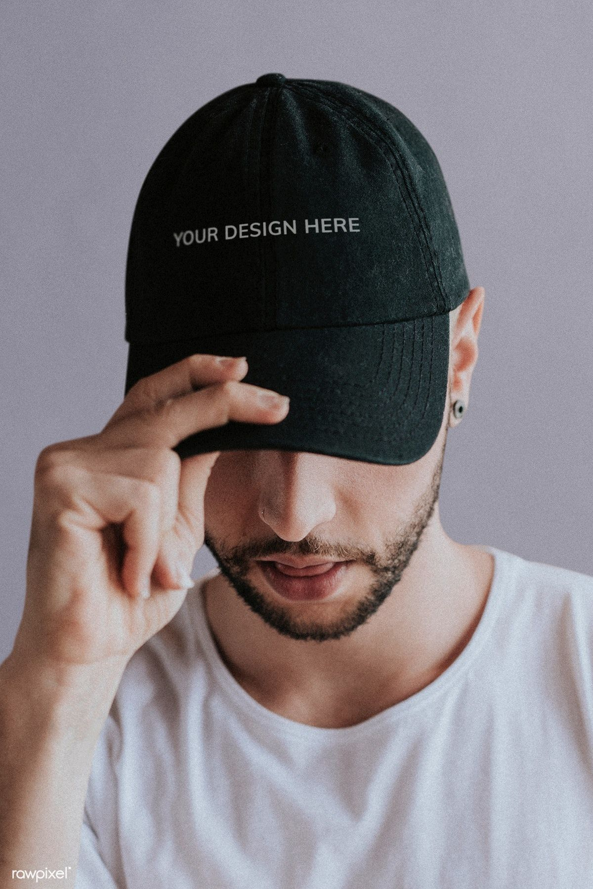 Download Premium Psd Of Man With A Black Cap Mockup 1216504 Black Cap Clothing Mockup Men With Cap