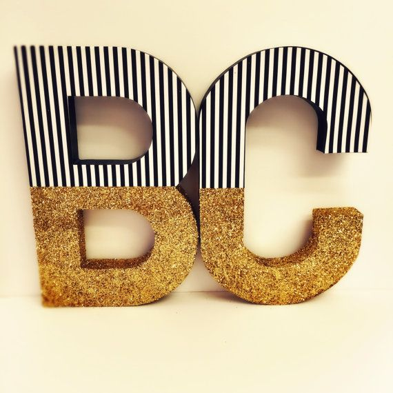 Gold Glitter Letters Xl Pink Glitter Dipped Letters Glitter
