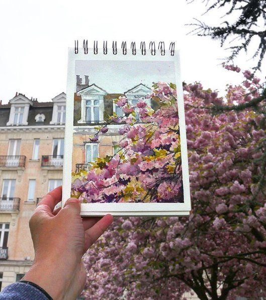 Traveler creates watercolor paintings landscape beautiful more than real photo - Living + Nomads – Travel tips, Guides, News & Information!