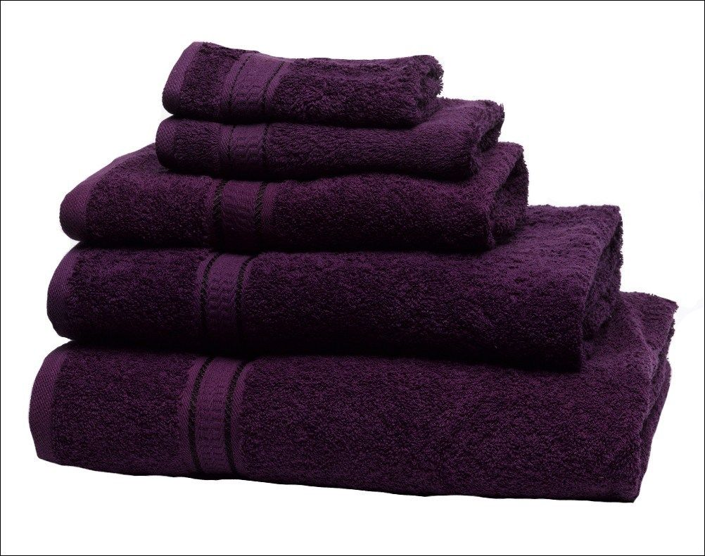 Purple Towels Bathroom